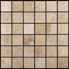 M090-48P (Travertine) мозаика Травертин 48х48 305х305