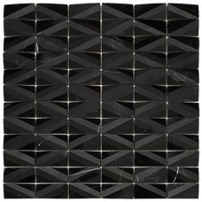 RO03MS408 Mosaico Net Black 30x30