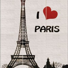 I LOVE PARIS плитка